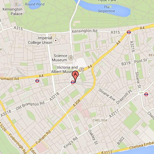 South Kensington Map